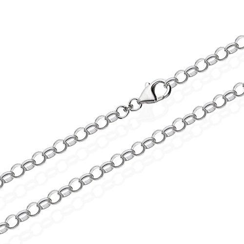NKlaus 925 Sterlingsilber Silber Erbskette für Anhänger Silberkette 19cm 5,00mm 5gr 5650