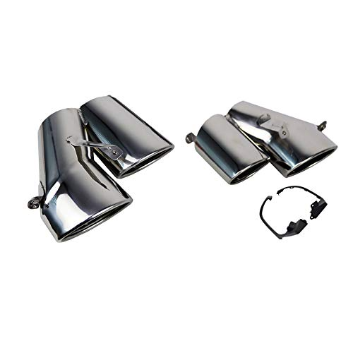 ECP-AUTOTEILE fit for 18-20 Accord Sport&Touring 4DR Car Rear Dual Quad Exhaust Tip Pipe