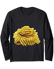 Patatas fritas Crujientes Snacks salados Manga Larga