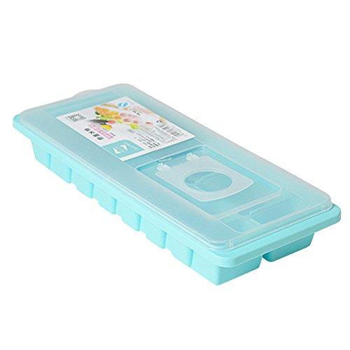 Eiswürfelform - Eiswürfelform mit Deckel - BPA-frei Flexible Aufbewahrung für Babynahrung, EIS, Whisky, Mehrzweck-Serria