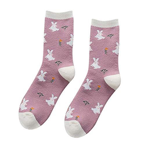 Hunpta@ Damen Socken Winter Warm Mode Süßes Frauen Atmungsaktivität Dicke Mittelstrumpf