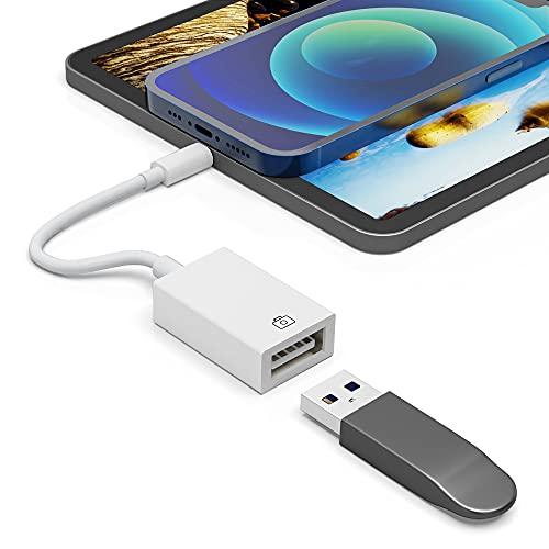 Adaptador Lighting a USB, Adaptador OTG Cable de sincronización de Datos Compatible...