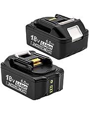 マキタ 18V バッテリー Yookoto マキタ 18v 互換バッテリー 6.0ah BL1860B 2個セット BL1830 BL1840 BL1850 BL1890 対応 セル搭载 リチウムイオンバッテリー 電動工具電池 電池残量表示付き