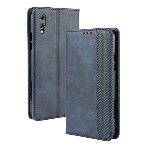 Capa de couro para Xiaomi Black Shark 2, YINCANG vintage de couro sintético com compartimentos para cartões, capa carteira protetora para Xiaomi Black Shark 2/Shark 2 Pro 6,3 polegadas azul