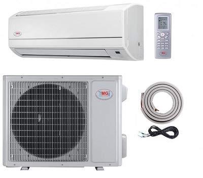 YMGI 12000 Btu 16 SEER Ductless Mini Split DC Inverter Air Conditioner Heat Pump System - 115 Volt with Free 15 Feet Installation Kit