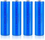 18650 Baterías Recargables 3.7 V ICR 2000 MAH Línea de Alta Capacidad de la batería de Alta Capacidad Bolsillo de Repuesto de Bolsillo 1200 ciclos de Larga Vida (botón de Lote 4)