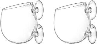Szklana doniczka na rośliny akwarium z przyssawkami 2 szt. uchwyt na rośliny do akwarium mały terrarium mini wazon do rośl...