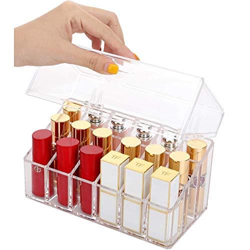 WolinTek Make Up Organizer-Staubdicht mit Abdeckung,Kosmetik Aufbewahrung Organizer Lippenstift Make...