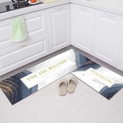 HLXX Alfombra de cocina antideslizante moderna alfombra de sala de estar balcón baño impreso alfombra pasillo alfombra geométrica A15 50 x 160 cm