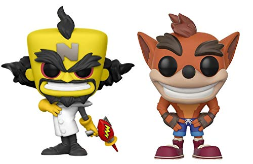 Funko POP! Crash Bandicoot: Crash Bandicoot + Dr. Neo Cortex – Stylized Video Game Vinyl Figure Set NEW