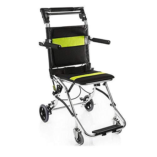 LJYT kinderwagen, opvouwbaar, licht, draagbaar, voor stoelen, veiligheidszitje voor vliegreizen, met hoge armleuningen voor mobiliteit en mobiliteit voor mindervaliden en senioren