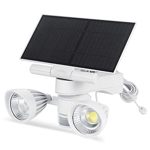Wasserstein Floodlight & Solar Panel Charger, Motion-Activated, Compatible with Arlo Ultra/Ultra 2 and Arlo Pro 3/Pro 4 (White) (NOT Compatible with Arlo Essential Spotlight)
