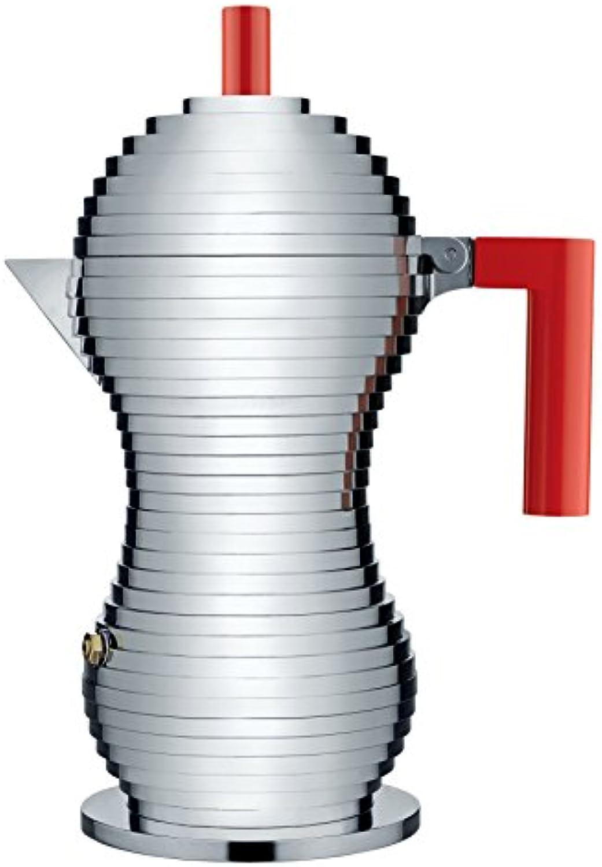 Alessi Kaffeekanne, rot, Aluminium, 7.5 x 14.5 x 26 cm