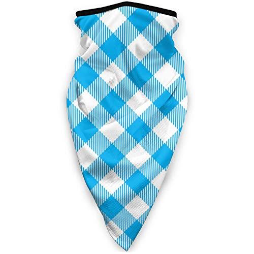 iuitt7rtree Winddicht Blue-Tischdecke-Diagonale-Nahtloses-MusterBike Turban halbe Sturmhaube Hut Turban Schal Hals Rohr Halsschutz gegen Staub und Wind