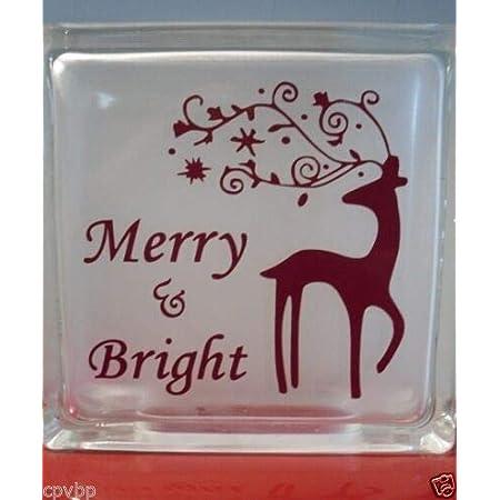 "Love Never Melts Snowman Christmas Decal sticker for DIY 8/"" Glass Block Tile"