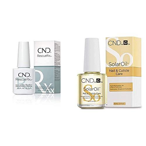 CND Rescue RXx 15ml, 1er Pack (1 x 0.015 l) & Nagelöl Solar Oil (1 x 15 ml)