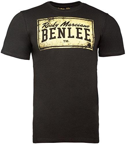 BENLEE Rocky Marciano Herren T-Shirt Trägerhemd Boxlabel, Schwarz, M