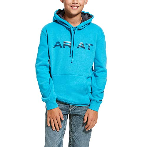 ARIAT Kid's Graphic Hoodie Caribbean_Sea Size Small