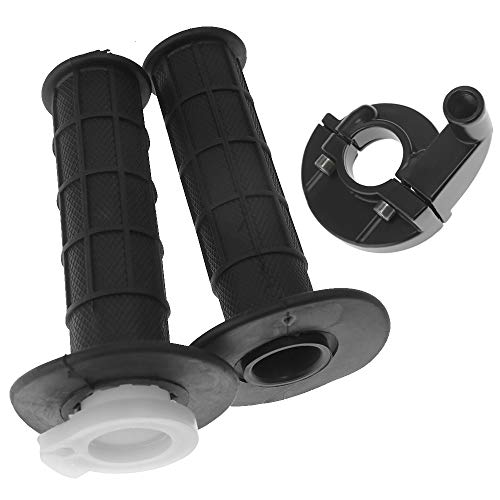 """Motorcycle 7/8"""" CNC Handlebar Rubber Gel Hand Grips with Throttle Tube For Yamaha YZ80 YZ85 YZ100 YZ125 YZ250 DT100 DT125 DT175 DT250 DT400"""