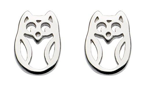 Dew Sterling Silver Owl Stud Earrings