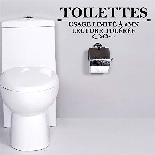 Wandaufkleber,Französische Toiletten Toilettenwandaufkleber Verwendungslimit 5 Minuten Vortrag Toiletten Badezimmer Wandtattoos Kunstplakat Wohnkultur