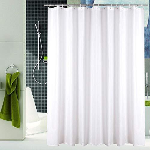 CDFD Modern minimalistisch douchegordijnBadkamer Waterdicht polyesterdouchegordijn Effen kleurgordijnenvoor badkamer met douche, wit, 150x200cm