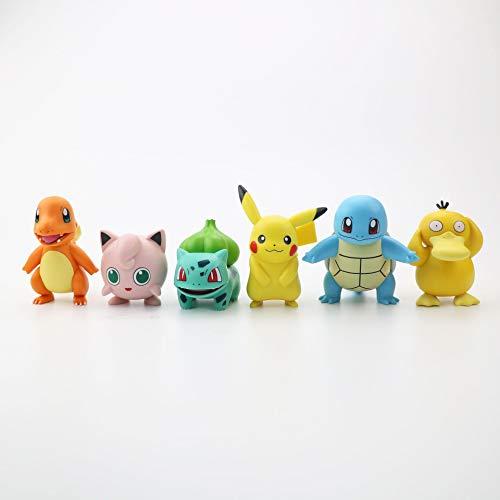 6 Pcs Figurine de Pikachu Pokemon Pikachu Pop Pokemon Pop Pikachu Anime Modèle Jouet Poupée Gâteau Décoration pour Enfant