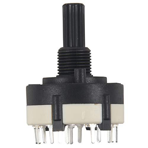 Huante 1 Piezas De PláStico Negro 1 Cuchilla 12 Bandas De Banda Giratoria Interruptor Puede Ajustar La Longitud Del Eje Del Engranaje 2cm 4.4 x 2.6 x 2.6cm