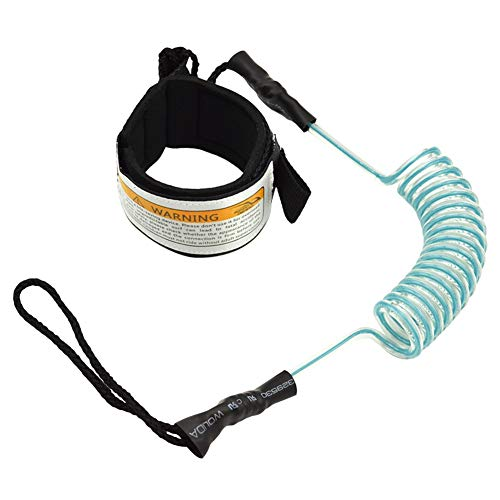 Sportmall Surfboard Leash Surfing Kayak Leash Rope Boat Paddle Stand Up Paddle Surfing Leash Safety Hand Rope for Aurfboard Surfing Accessories