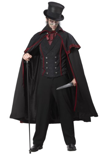Jack The Ripper Costume X-Large Black