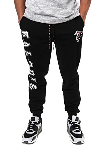 Ultra Game Men's NFL Jogger, Atlanta Falcons, Team Color, Large