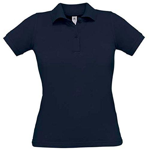B&C Ladies Poloshirt Safran für Damen XL,Navy