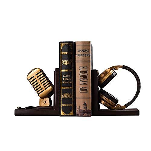 Tbaobei-Baby Bookends Cuffia Stile Europeo Bookend Libro Stand Reggilibro Reggilibro Ufficio Sala Studio Decorazioni Resina Artigianato Ornamenti Ufficio Bookend Bookends Classic