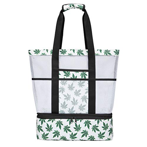 Strandtasche Groß mit Kühlfach Reißverschluss Sommer Tasche für Strand Urlaub Reise...