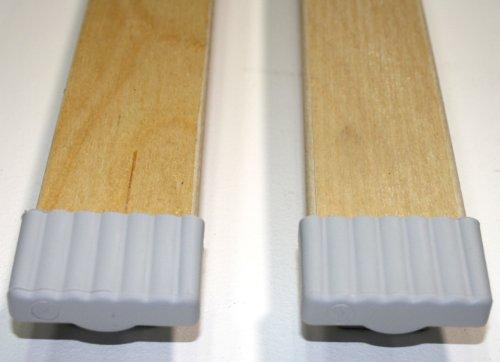 BOSSASHOP.de 10er Stück Kautschukkappen für Federholzleisten der Stärke 8mm und Breite 50mm