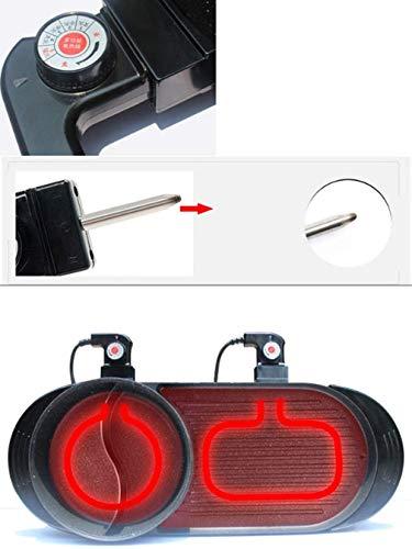 41xw E0TFKL - KOIUJ Spezialofen 2in1 Hot Pot und Elektrogrill Innen Backen Flach Pan Doppel-Geschmack Hotpot Smokeless Grill Barbecue Wohnung Griddle