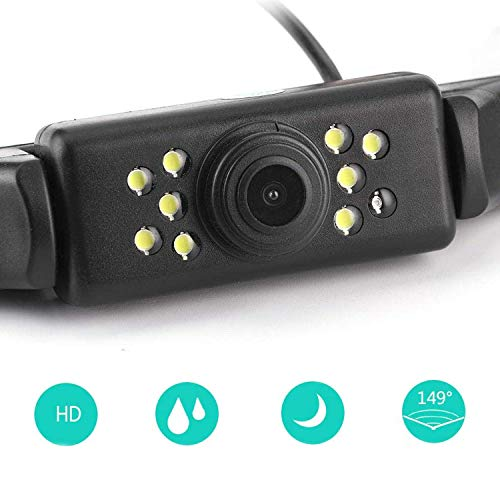 Car Backup Camera Rear View LED Night Vision Waterproof Reverse Camera with Multiple Mount Brackets for Universal Cars SUV Trucks RV and More