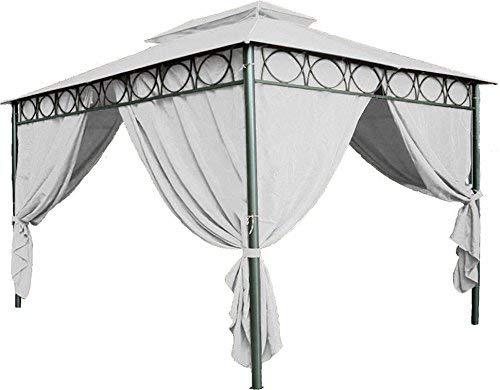 Spetebo Ersatzdach für Pavillon Cape Town 4x3m - wasserdicht - in 3 Farben - Pavillondach mit PVC Beschichtung (Beige)