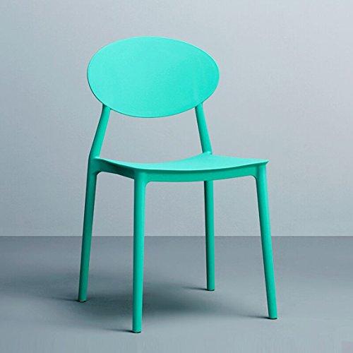 CKH Nordic Fashion Chair, kunststof Leisure Home creatieve tuinstoel, moderne eenvoudige rugleuning, eetkamerstoel, kruk