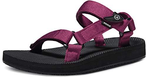 ATIKA Women's Islander Walking Sandals, Arch Support Trail Outdoor Hiking Sandals, Strap Sport Sandals, Summer Water Shoes, Islander(w214) - Purple, 9