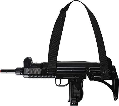 Das Kostümland Gonher 134/6 Maschinenpistole M-134 zum Soldaten Kostüm - Spezialeinheit Spielzeugwaffen Command Polizei Polizist FBI Karneval Fasching Theater