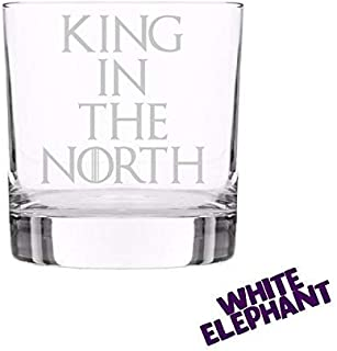 King in the North Game Of Thrones Whiskey/Highball/Pint/Tankard Glass Gift