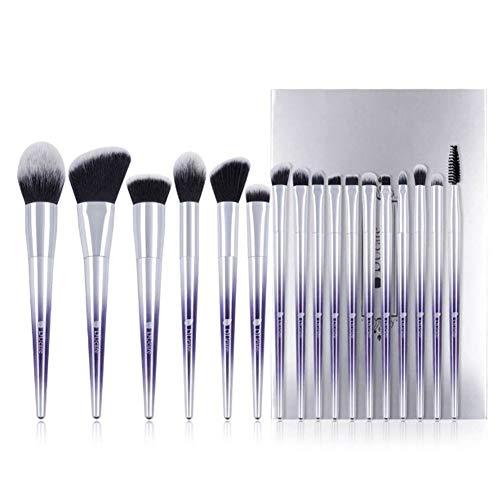 Lot de 17 pinceaux de maquillage professionnels Kabuki Pinceaux de maquillage Blending Poudre Rouge Correcteur Ombre à paupières Kit
