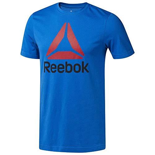 Reebok Qqr-Stacked Camiseta, Hombre, bluspo, S