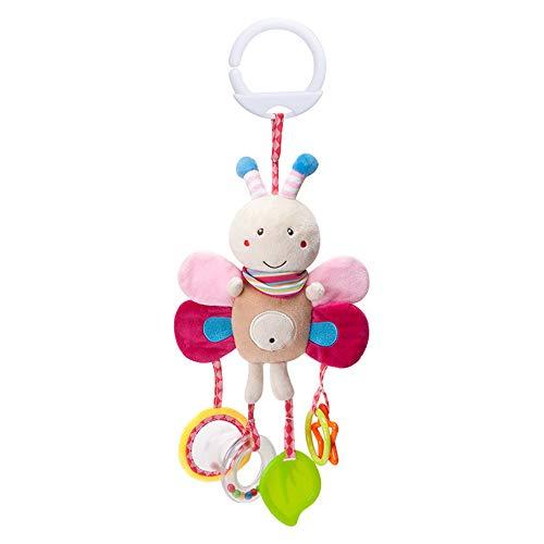 Juguete para cochecito de bebé, juguete de actividad, cuna, juguete de motricidad, juguete para colgar, multicolor, diseño de animales, sonajero para niños pequeños (abeja)