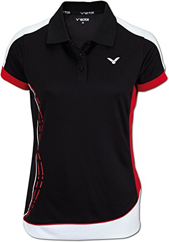 VICTOR Damen Shirt Function Female, Black, 40