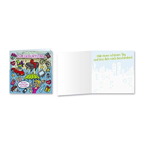 Sheepworld, Gruss & Co - 90045 - Klappkarte, mit Umschlag, Geburtstagsgrüsse mit Pop Nr. 45, Alles Gute zum Geburtstag