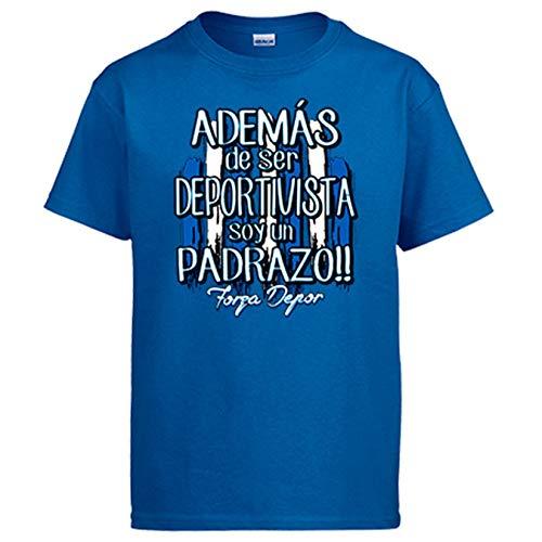 Diver Bebé Camiseta además de ser Deportivista Soy un padrazo La Coruña fútbol - Azul Royal, 12-14 años