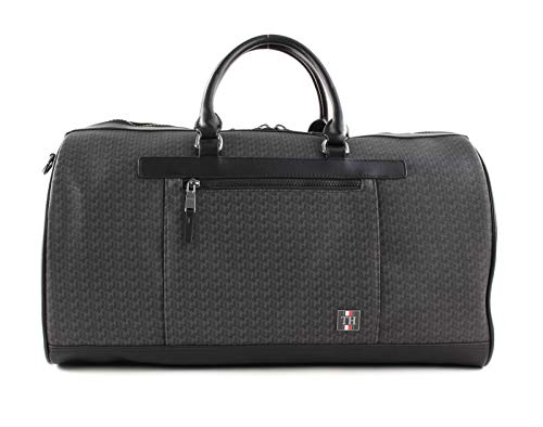 TOMMY HILFIGER Gecoat canvas Monogram Weekender Black Monogram