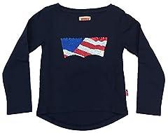 Levi's Camiseta de Manga Larga Bandera para Niña